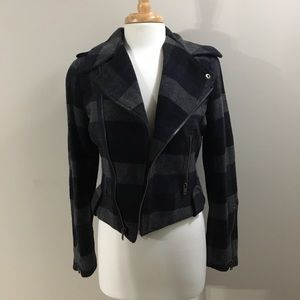 NWOT Plaid, asymmetrical coat